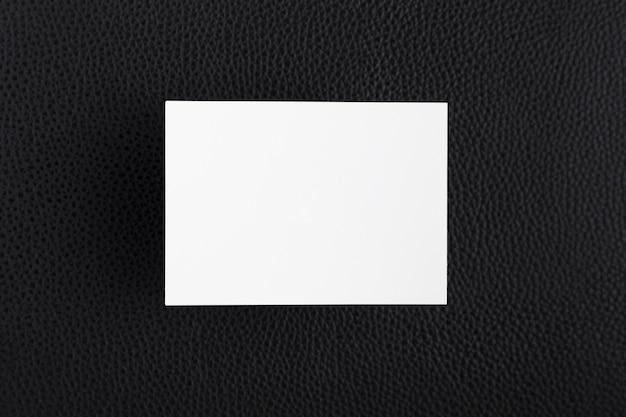 Bovenaanzicht wit visitekaartje Premium Foto