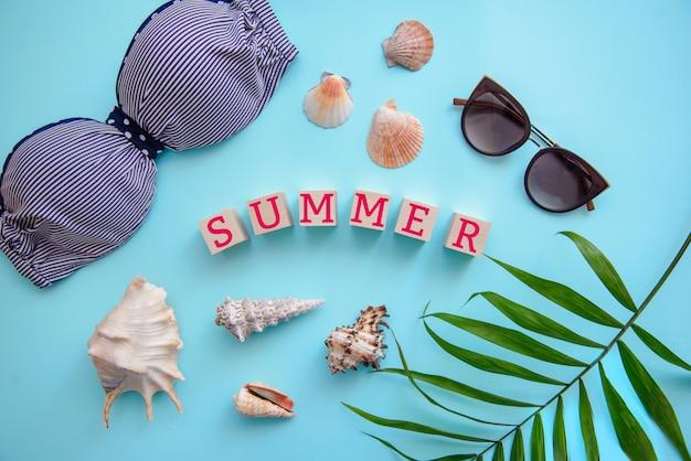 Bovenaanzicht: zomervakantie Premium Foto