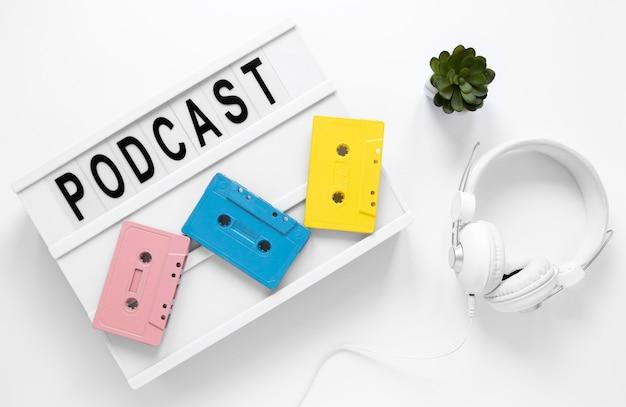 Bovenstaande weergave podcast items arrangement Gratis Foto