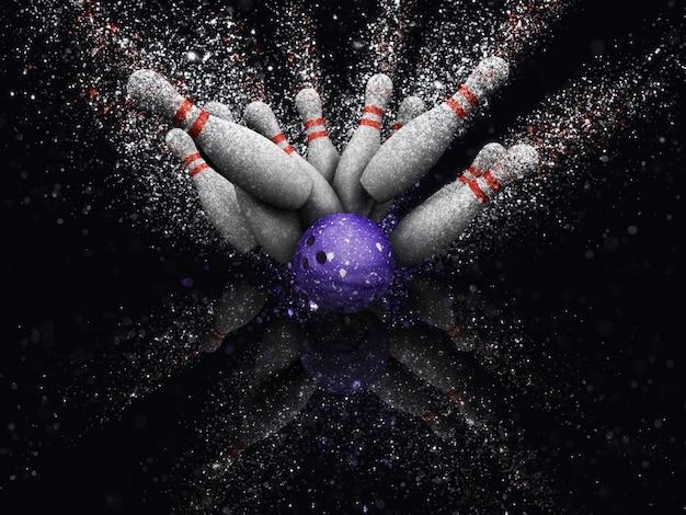 Bowling bal met bowling Gratis Foto