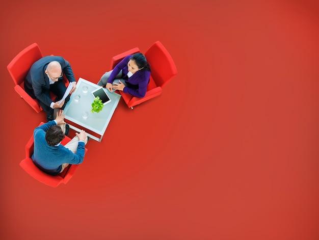 Brainstormen planning strategie teamwork samenwerking concept Gratis Foto