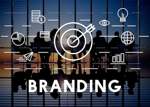 Branding advertentie copyright value profile concept Gratis Foto