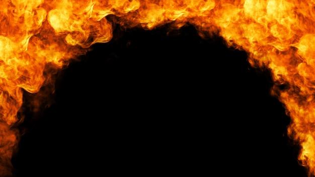 Brandkader op zwarte achtergrond Premium Foto