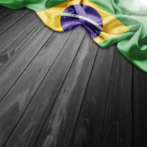 Brazilië vlag achtergrond Gratis Foto
