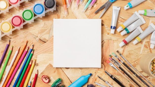 Briefpapier kunstartikelen en kopieerruimte canvas Gratis Foto
