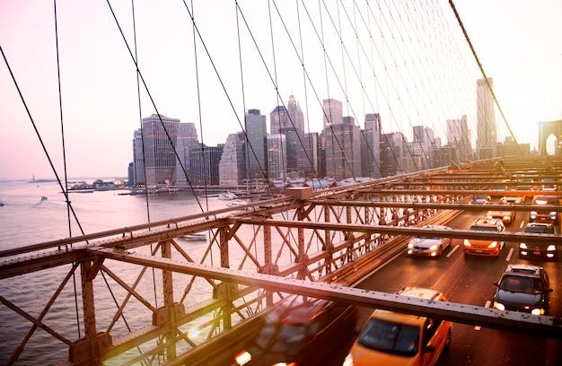 Brooklyn bridge landmark architecture metropolitan concept Premium Foto