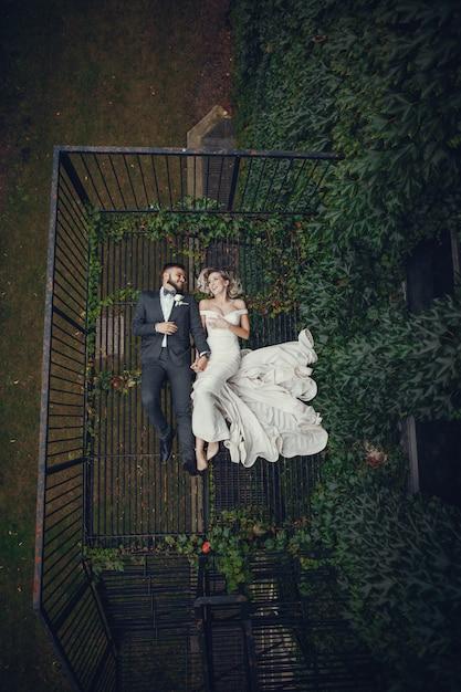 Bruid en bruidegom Gratis Foto
