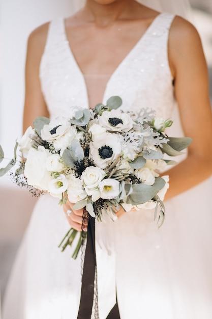 Bruid op haar trouwdag Gratis Foto