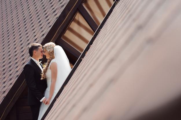 Bruidspaar shots Gratis Foto