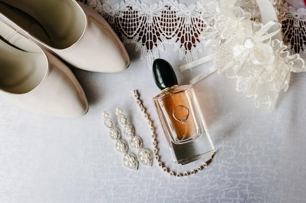 Bruiloft accessoire bruid Premium Foto