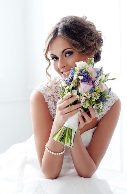 Bruiloft. mooie bruid Gratis Foto