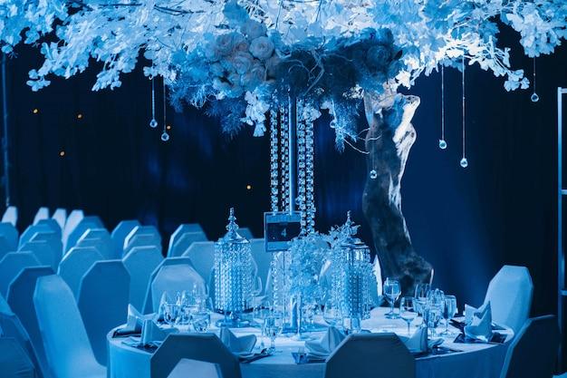 Bruiloft tafeldecoratie Premium Foto