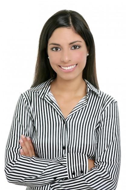 Brunette van indiase bussinesswoman student Premium Foto