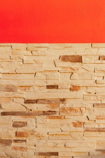 Buiten rode bakstenen muur achtergrond Premium Foto