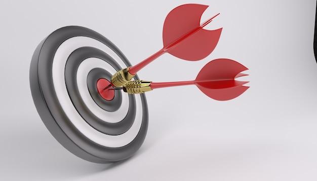 Bullseye met twee darts Gratis Foto