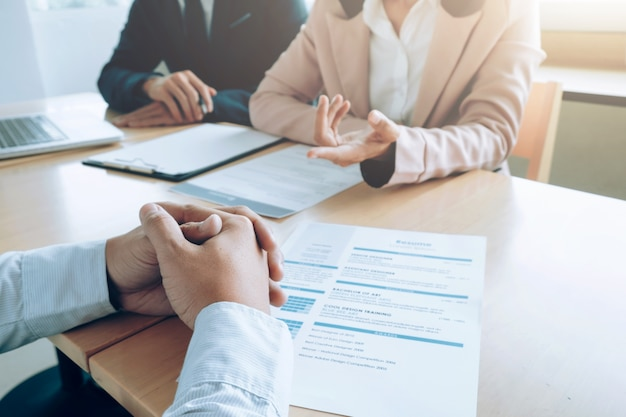 Business, job interview concept. Gratis Foto