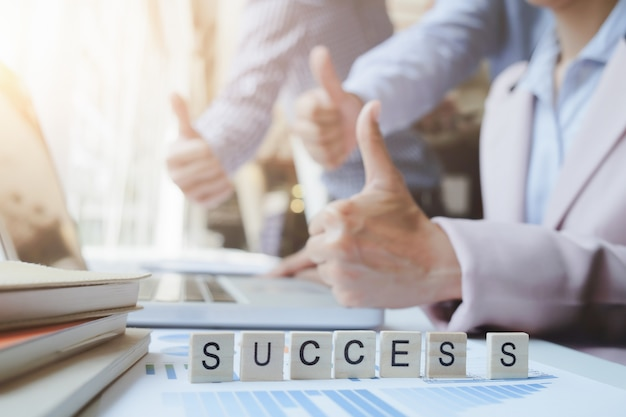 Business teamwork succes concept. Gratis Foto