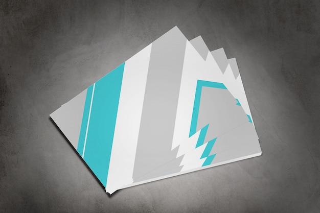 Businesscard op een concrete achtergrond, het 3d teruggeven Premium Foto
