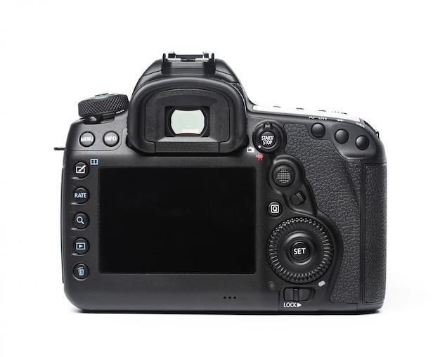 Camera op wit wordt geïsoleerd Premium Foto