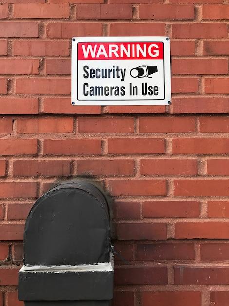Cctv-camera's in gebruiksteken Gratis Foto