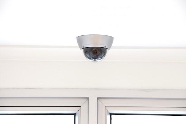 Cctv-videocamera voor buitenlocatie Premium Foto