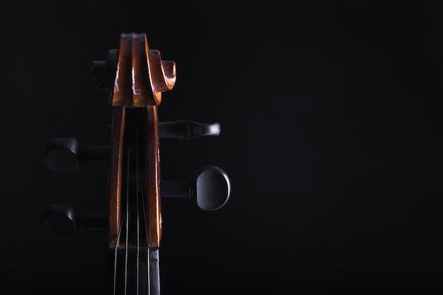 Cello peg box bijsnijden Gratis Foto