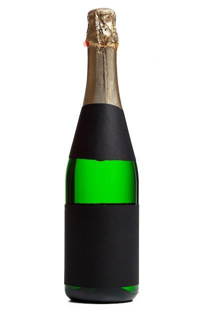 Champagne fles geïsoleerd Premium Foto