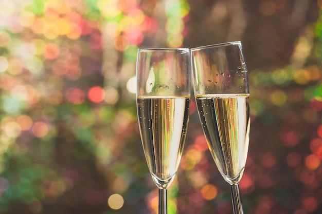 Champagne roosteren glazen Premium Foto