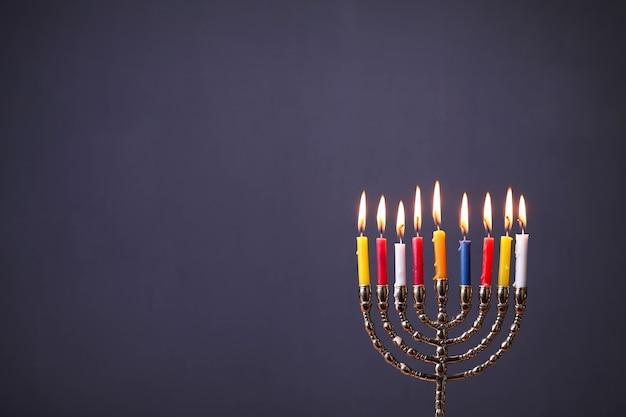Chanoeka-decoratie met kaarsen Gratis Foto