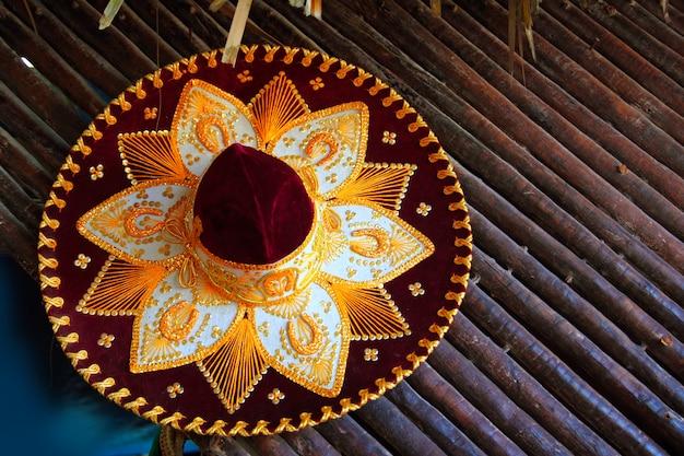 Charro-mariachihoed mexicaans pictogram van mexico Premium Foto