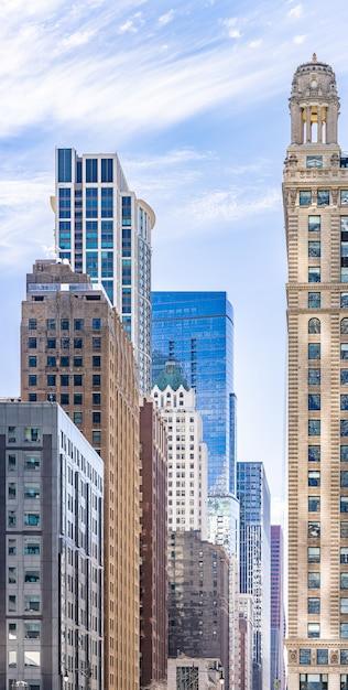 Chicago gebouw skyline Premium Foto