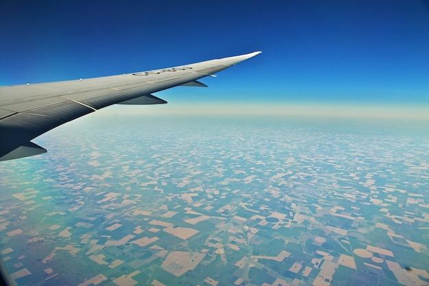 Chili het uitzicht vanuit het vliegtuig Premium Foto