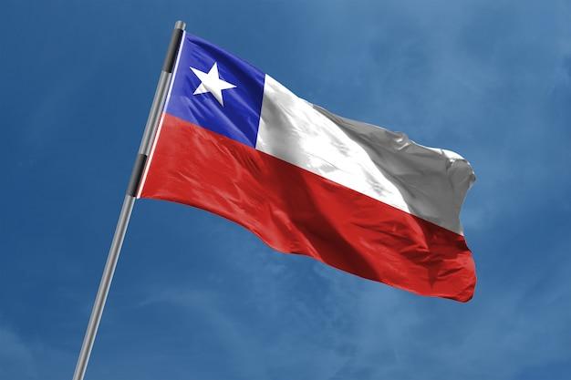 Chili vlag zwaaien Premium Foto