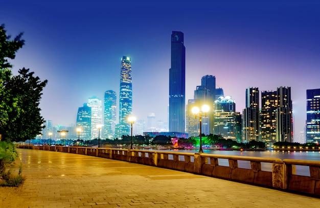 China guangzhou nacht Premium Foto