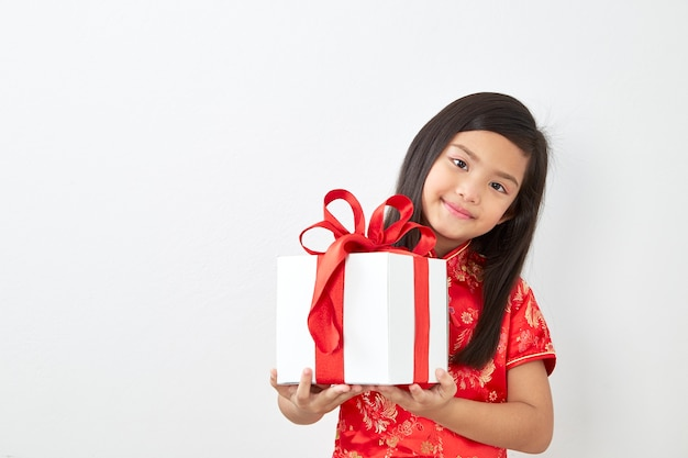 Chinees meisjesnieuwjaar 2019 Premium Foto