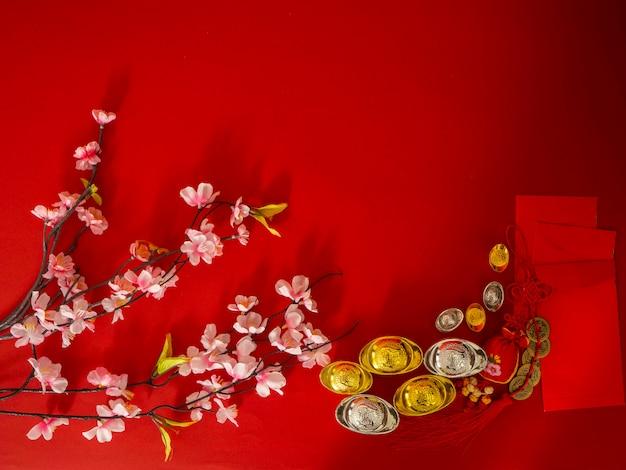 Chinees nieuwjaar decoraties. Premium Foto