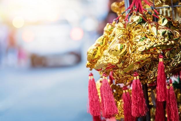 Chinees nieuwjaar festival decoraties. Premium Foto