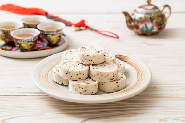 Chinees snoepje gemaakt van rijstmeel Premium Foto