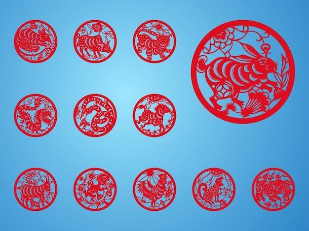 chinese dierenriem astrologie ontwerpelementen foto gratis download. Black Bedroom Furniture Sets. Home Design Ideas