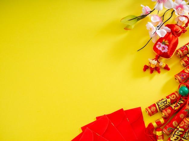 Chinese nieuwe jaarbannerachtergrond Premium Foto