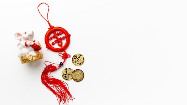 Chinese nieuwe jaarhanger met rattenbeeldje Gratis Foto