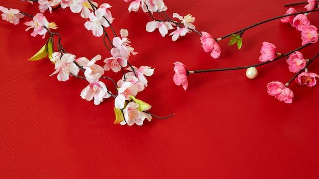 Chinese nieuwe pruimbloemen van het jaarfestival Premium Foto