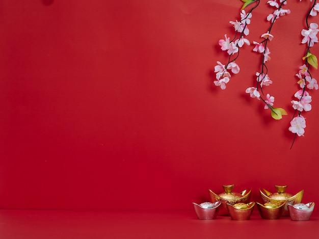 Chinese nieuwjaardecoratie voor de lentefestival Premium Foto