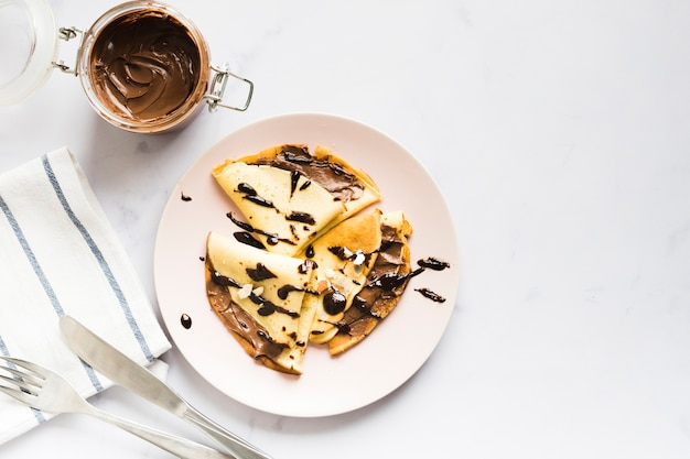 Chocolade crêpe Gratis Foto
