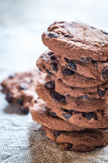Chocolade koekjes Premium Foto
