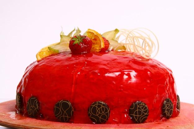 Chocolade vruchtencake Gratis Foto