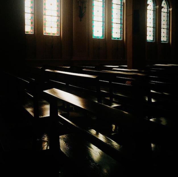 Church seat religion faith worship Gratis Foto