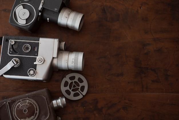 Cinematografie vintage achtergrond Premium Foto