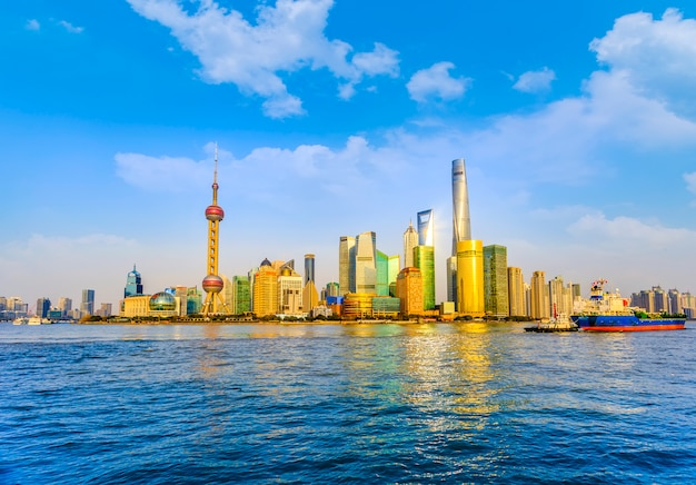 Cityscape downtown achtergrond stad chinees beroemd Gratis Foto