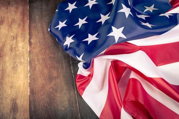 Close-up amerikaanse vlag Premium Foto